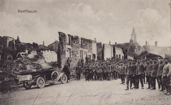 Kartka pisana w 17 kwietnia 1915 r. do J. Engler. Nieczytelna, po niemiecku.